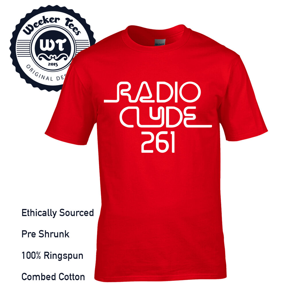 edb3274bf Details about Radio Clyde 261 T-Shirt worn by Frank Zappa Mothers of  Invention Free UK P+P