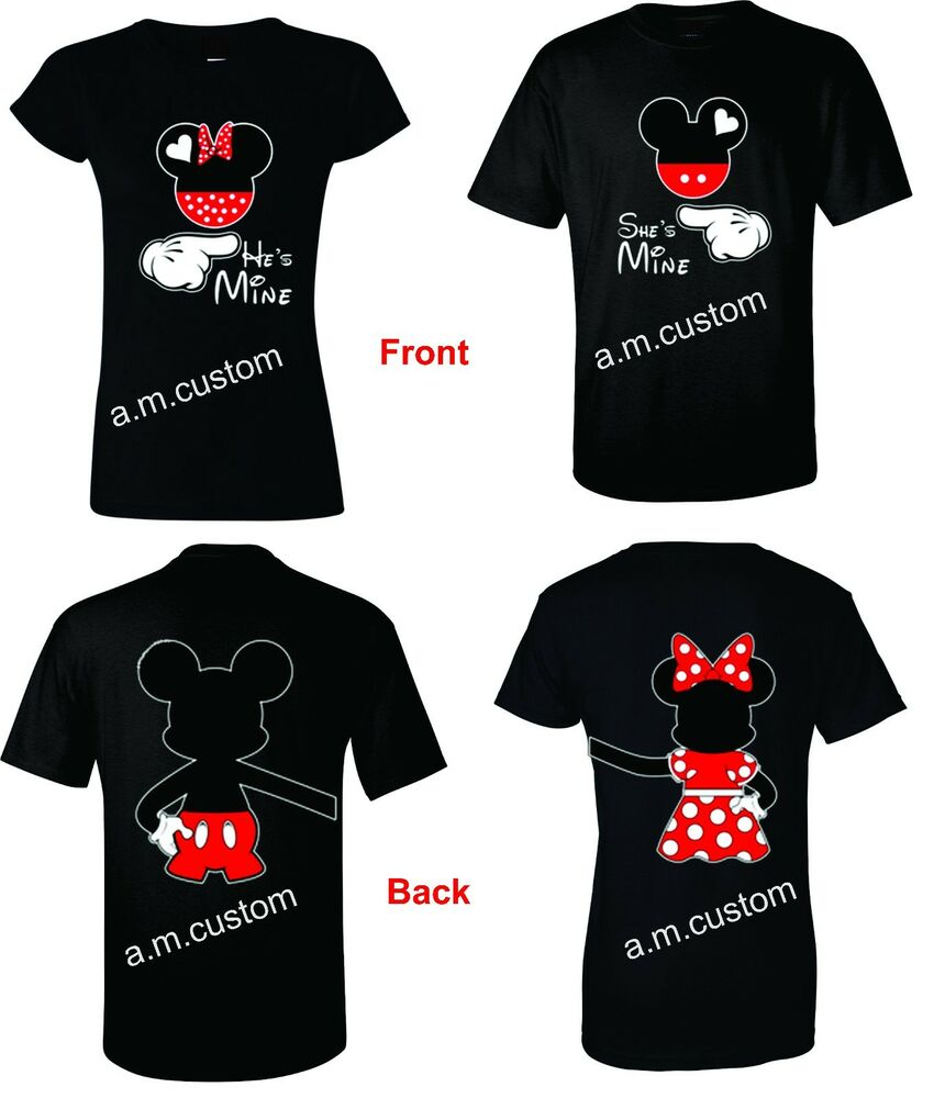 Check out my list of the most adorable matching Disney World t-shirts for couples. Perfect for a Disney honeymoon or anniversary trip! I'm definitely getting us a couple of cute matching shirts to wear. (Luckily my husband is a good sport and loves Disney almost as much as I do!) Here are a few of my favorite matching Disney shirts.