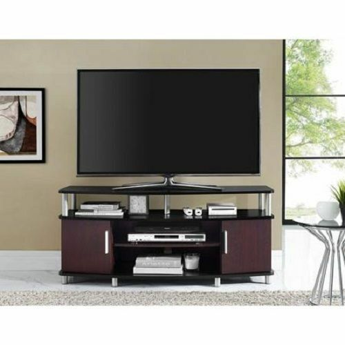 50 inch flat screen modern tv stand entertainment home media center console rack ebay. Black Bedroom Furniture Sets. Home Design Ideas