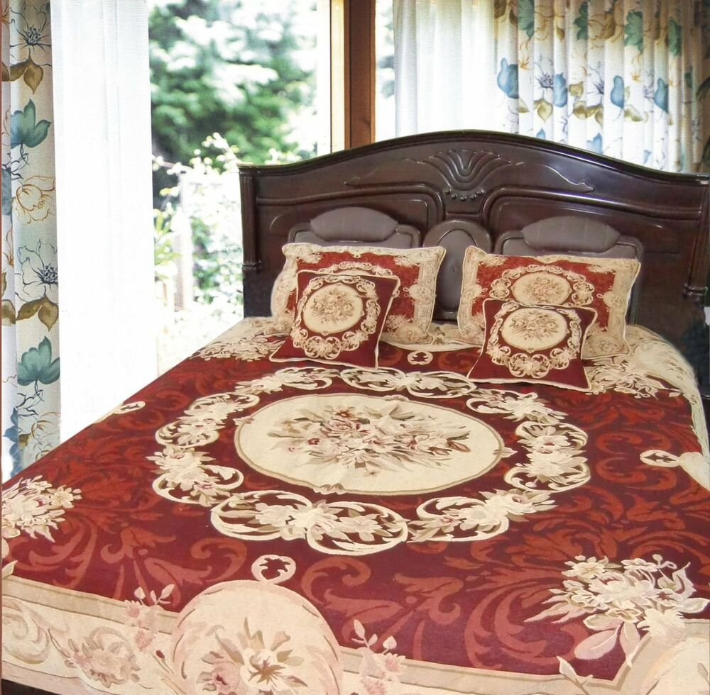 Dada Bedding Soft Red Victorian Medallion Chenille