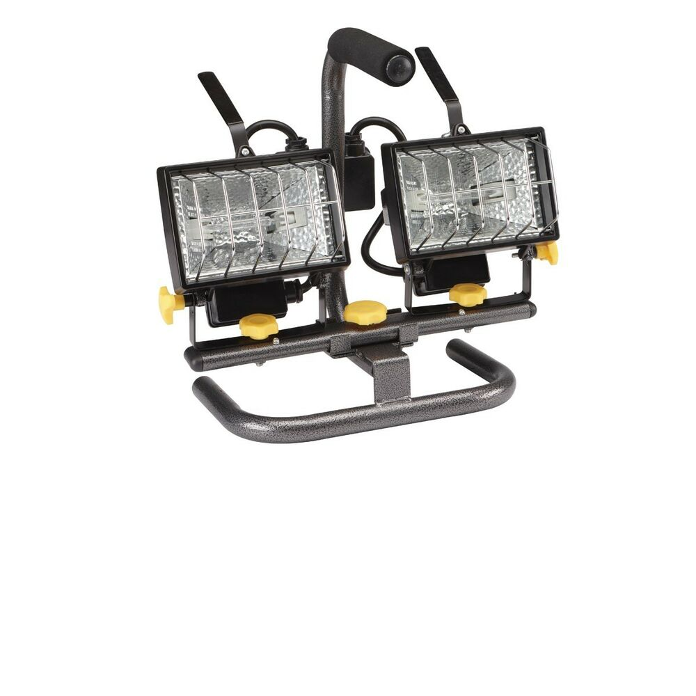 Dual Head Pivoting Work Light With Stand Portable Auto