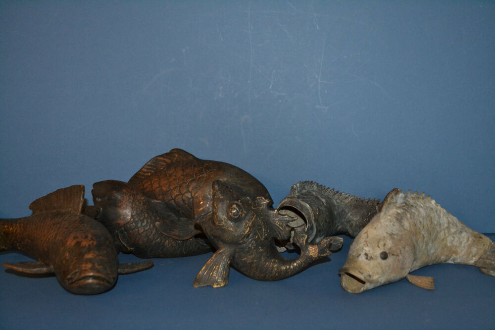 5 rare antique 19th century chinese or japanese bronze koi for Rare koi fish