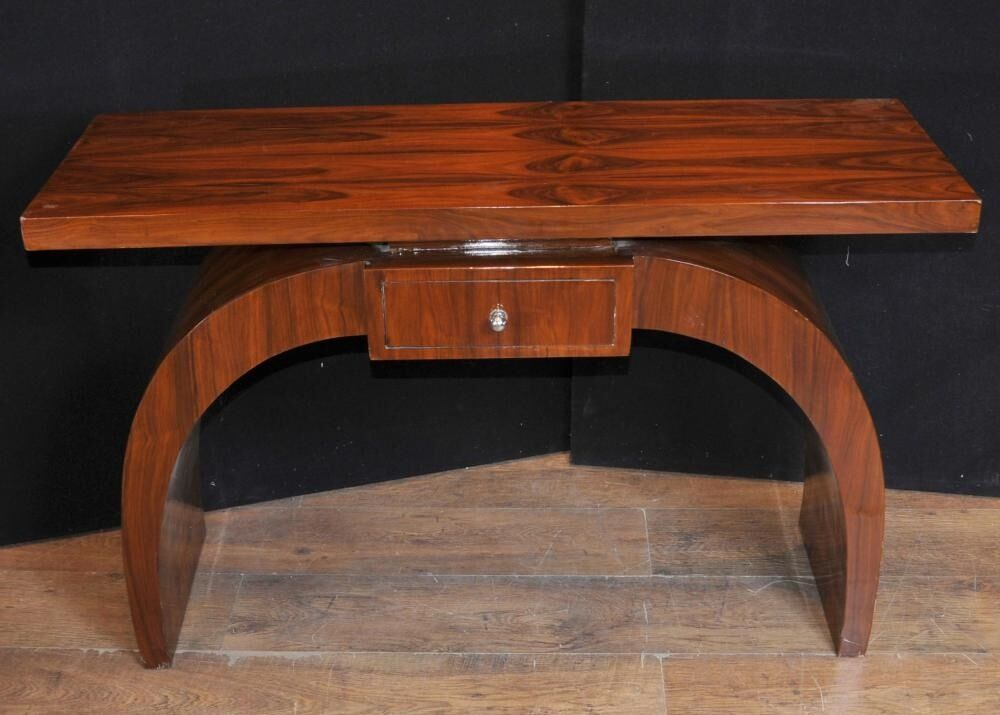 art deco modernist console table rosewood hall tables ebay. Black Bedroom Furniture Sets. Home Design Ideas