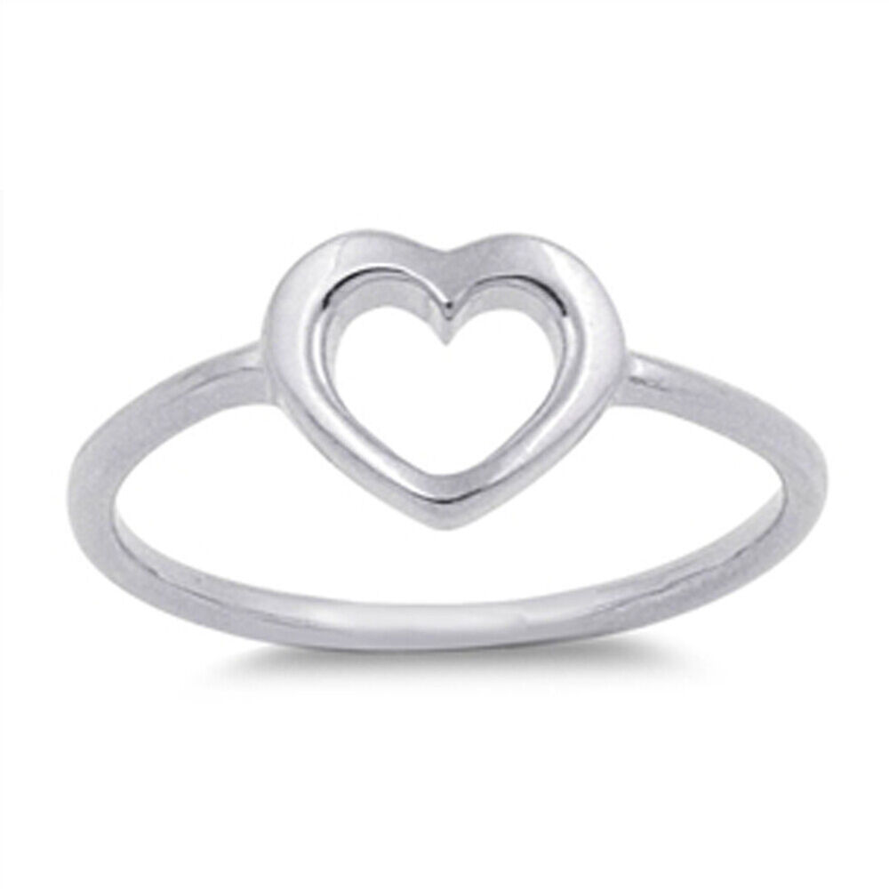 Women's Heart Simple Cute Promise Ring New .925 Sterling ...