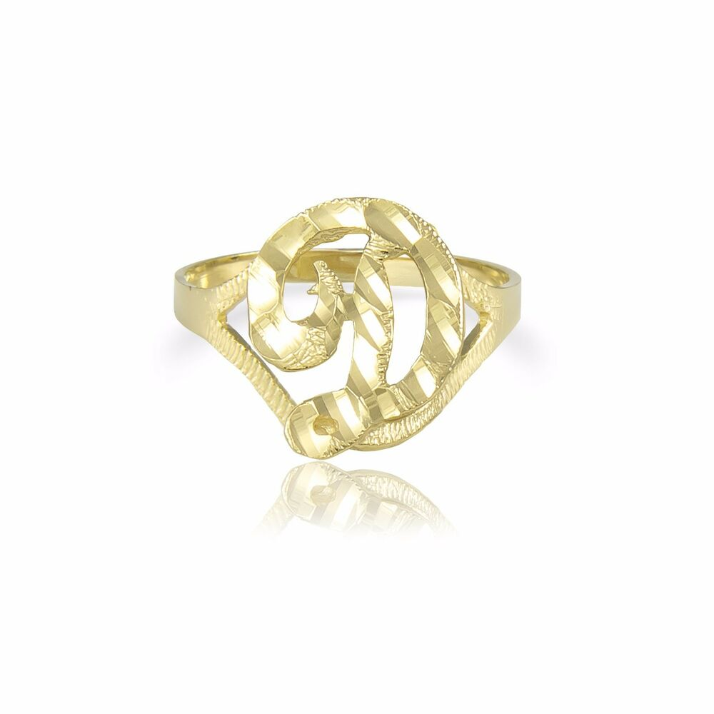 B Letter In Gold Ring 10K SOLID YELLOW GOLD ...