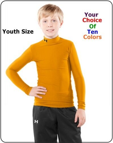 Under armour youth kids long sleeve compression shirts for Under armour swim shirt youth