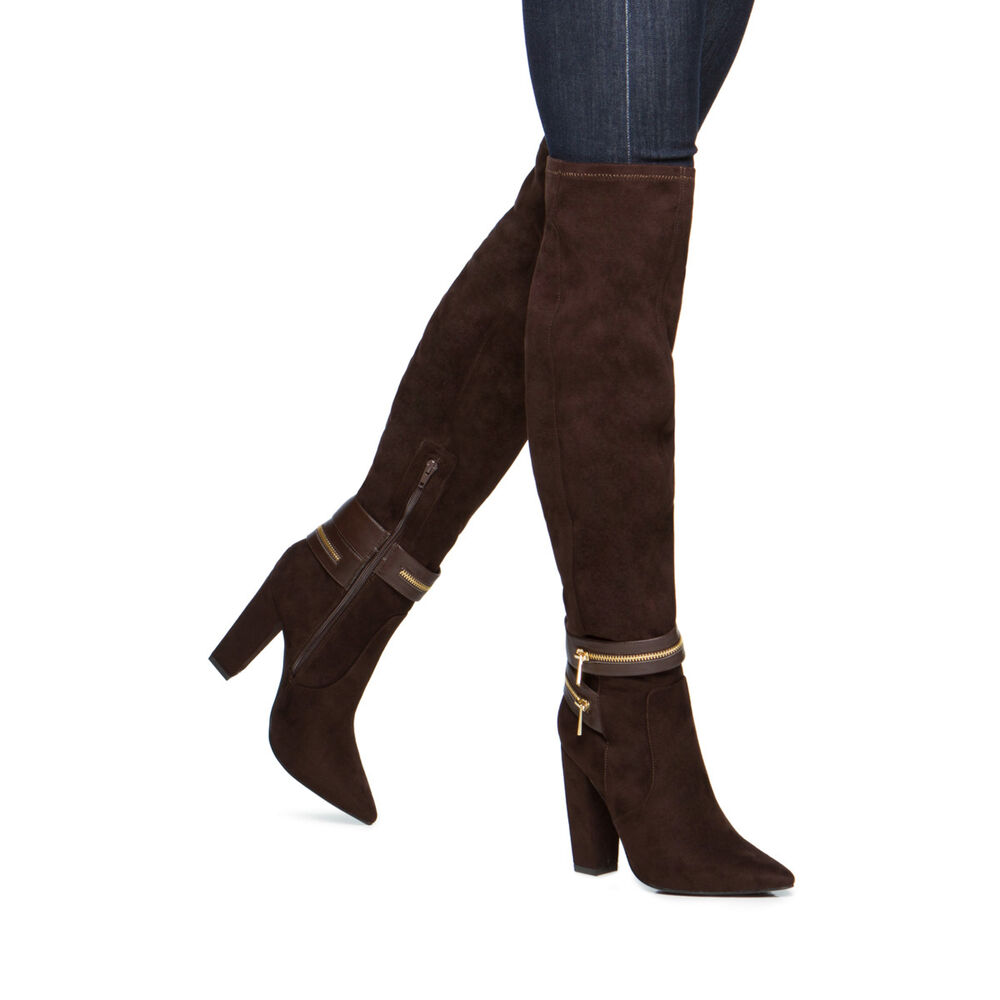 new fashion the knee boots heel gladiator thigh
