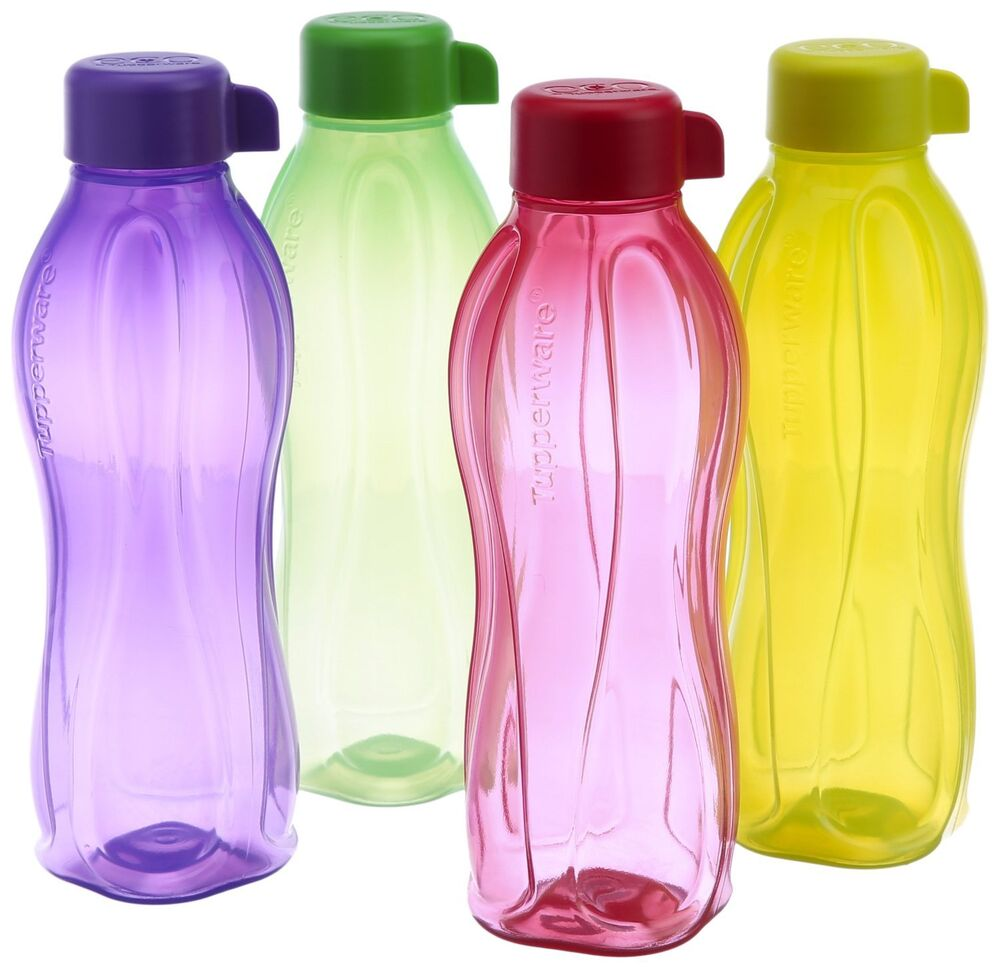 Water Bottle Set: Tupperware Aqua Safe ECO Sport 1000 ML 32oz 1L Water