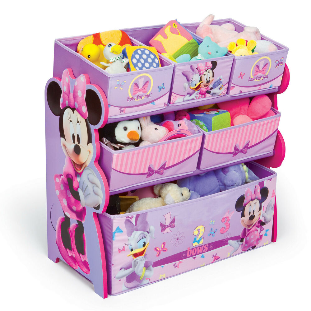 Disney Minnie Mouse Multi Bin Books Toy Box Organizer