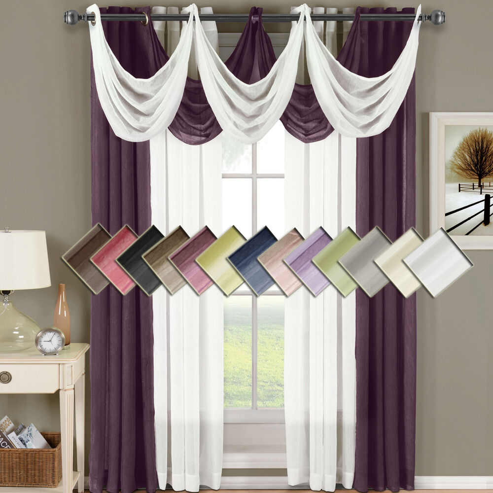 Abri Grommet Crushed Sheer Window Treatments Panels OR