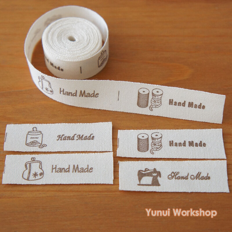 2 10 yards cut sew labels hand made home style for Sew in craft labels