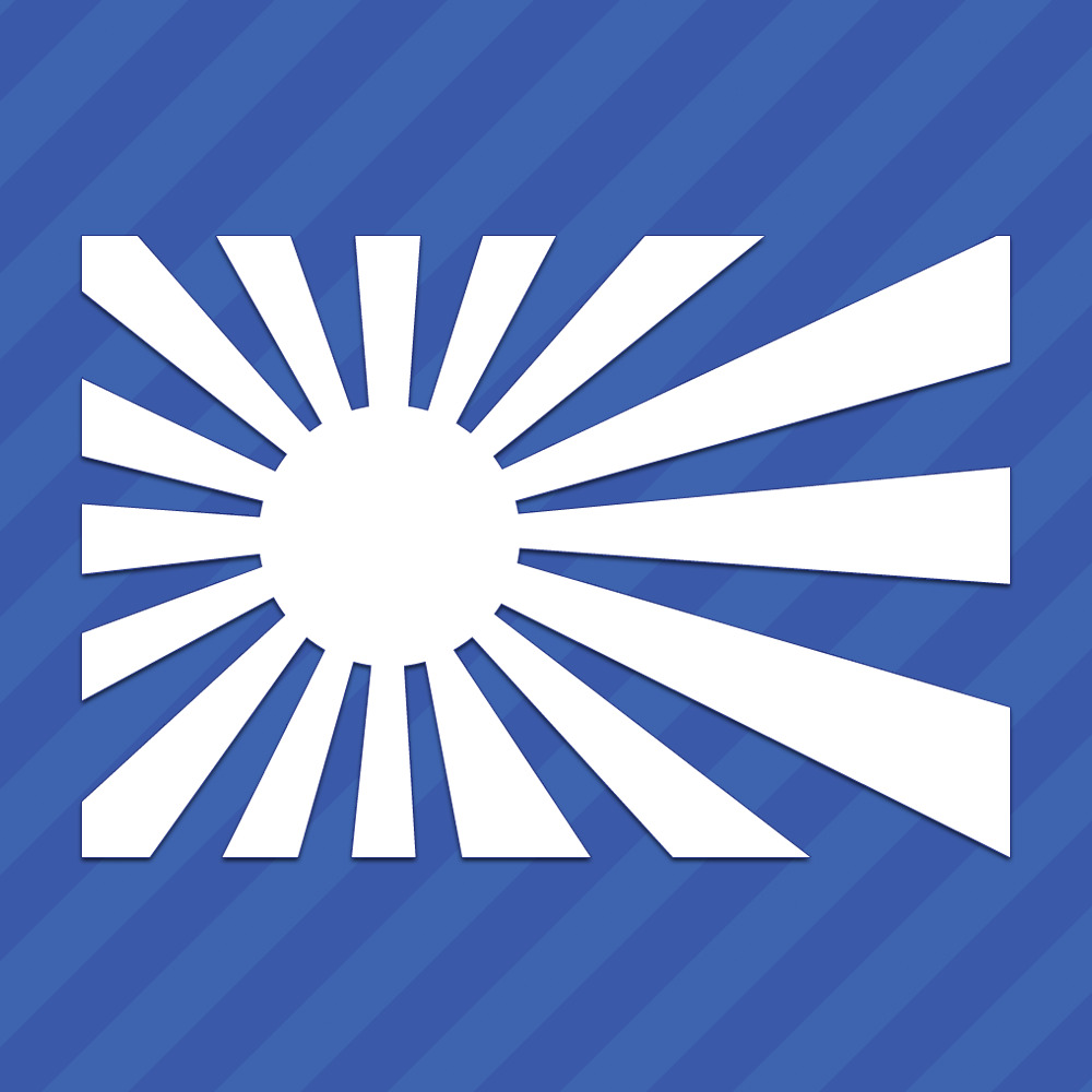 Details about japan rising sun flag sticker vinyl decal jdm