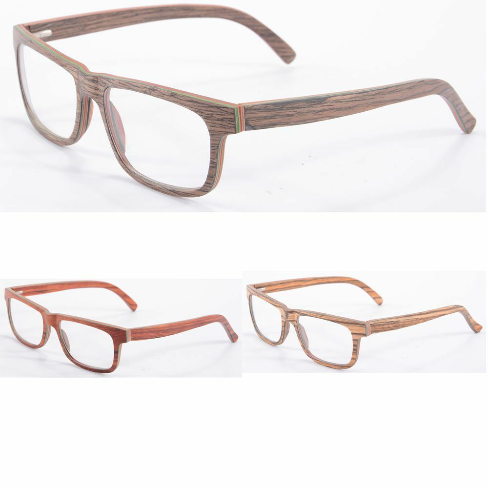 new clear lens wood optical frame glasses