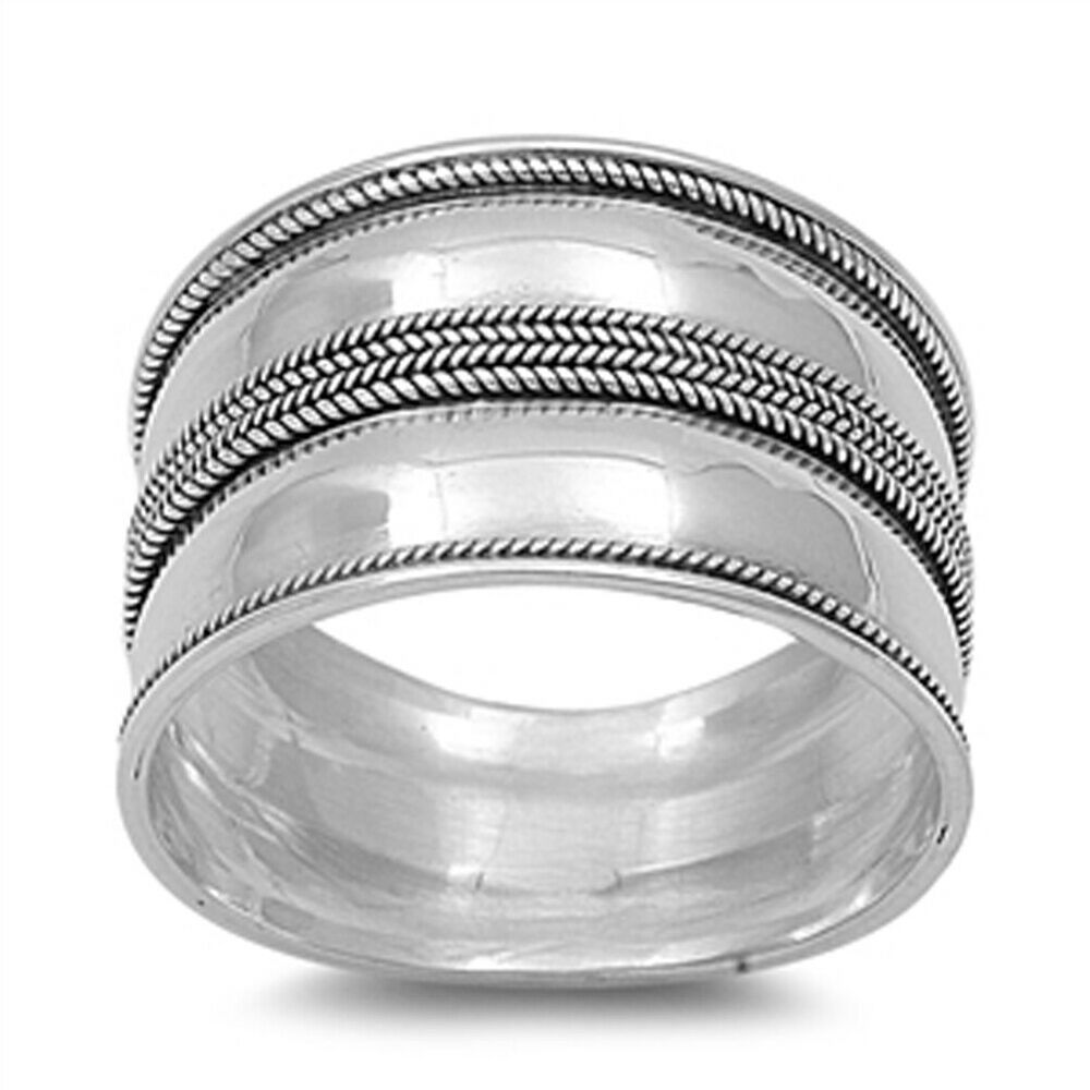 Silver ring shop - Unique Sterling Silver Band Ring