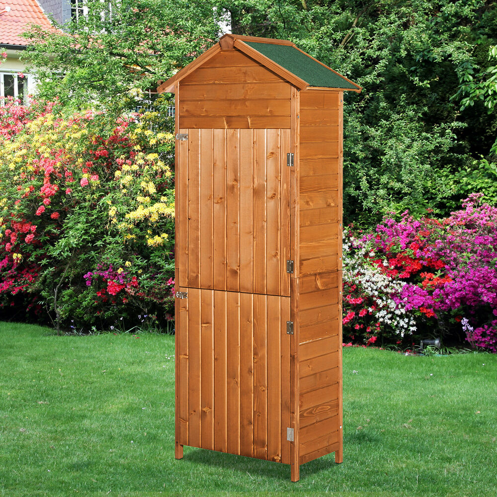 New wooden garden sheds tool storage cabinet box unit shed for Utility storage shed