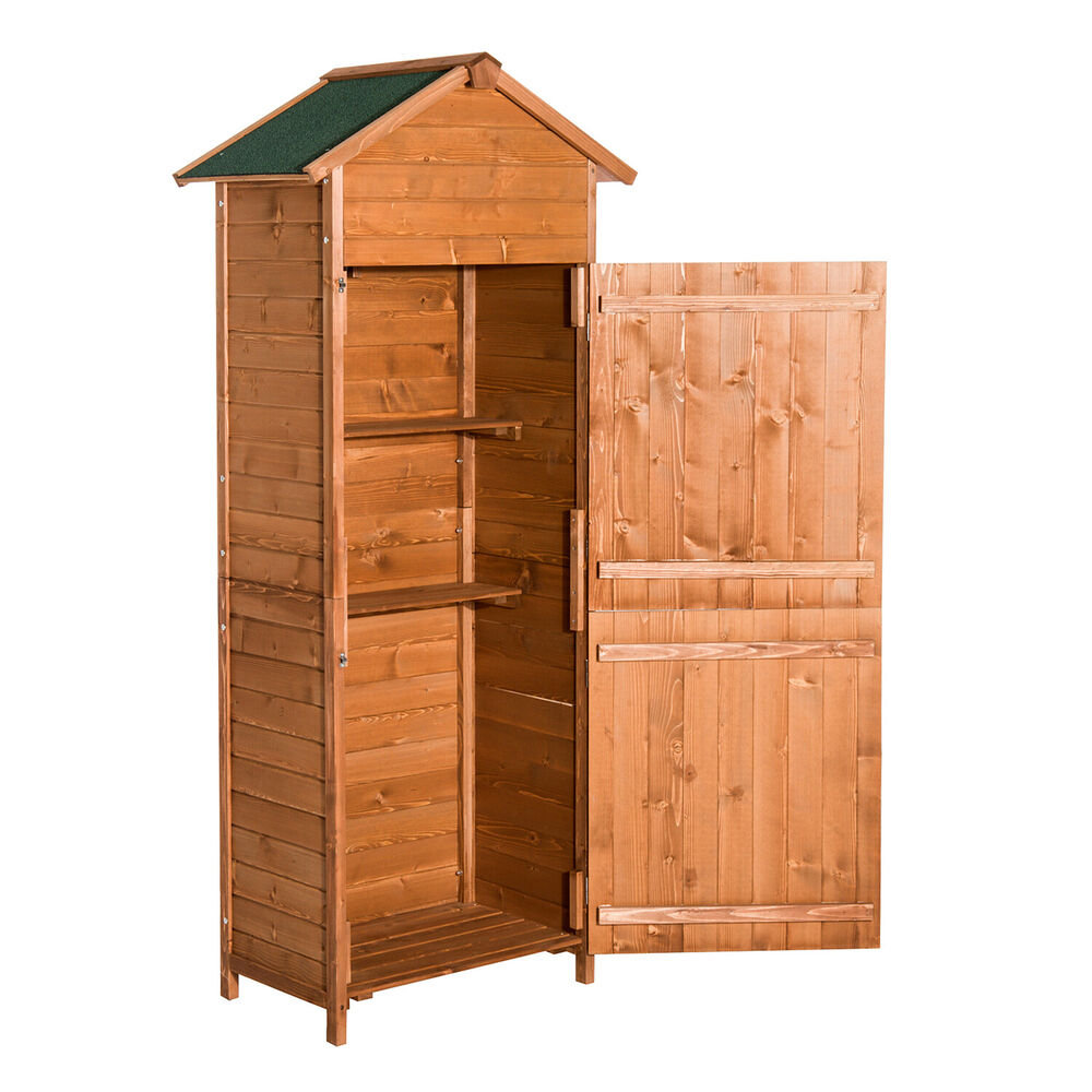 New wooden garden sheds tool storage cabinet box unit shed for Garden shed tab