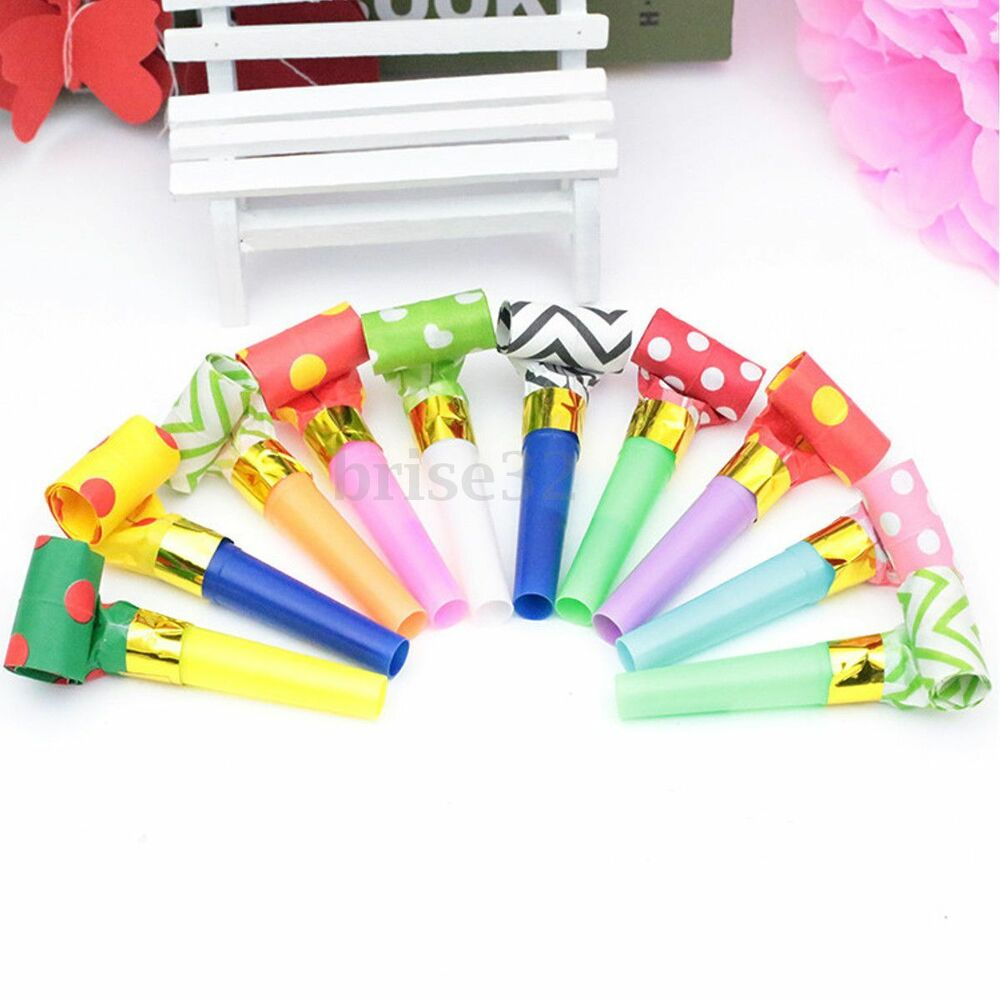 Party Favor Toys : Polka dot blowouts whistle blow outs blowing birthday