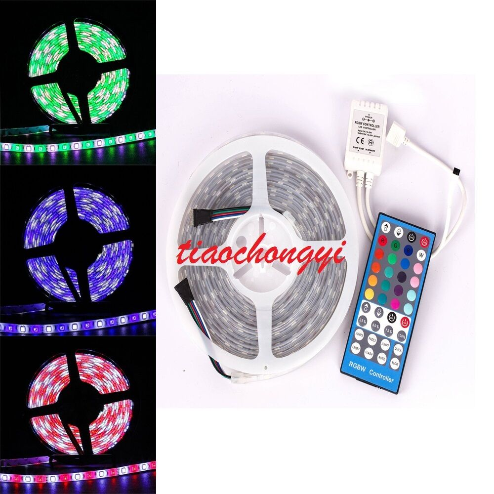 5050 rgbw rgb cool warm white 5m 300 led led strip light 40ky controller ebay. Black Bedroom Furniture Sets. Home Design Ideas