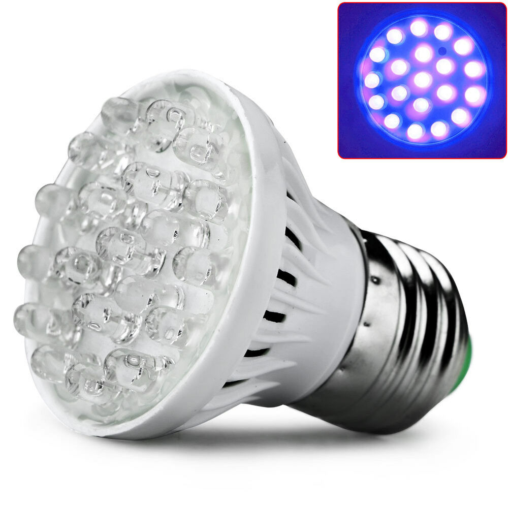 e27 20led pflanze wachsen lampe uv licht indoor hydroponic gem se birne 220v ebay. Black Bedroom Furniture Sets. Home Design Ideas