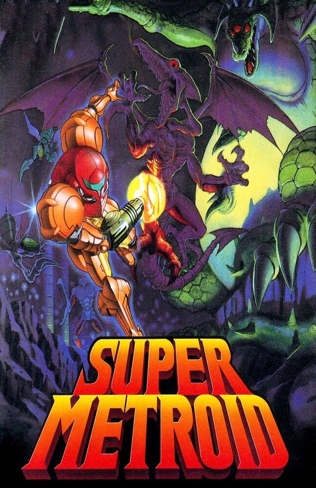 super metroid huge poster 22 inch x 34 inch fast