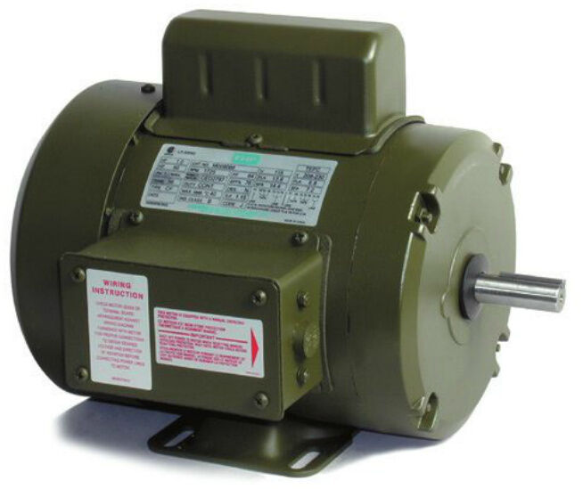 Leeson electric motor m6c17fc178a 1 3 hp 1800 for 1 3 hp motor