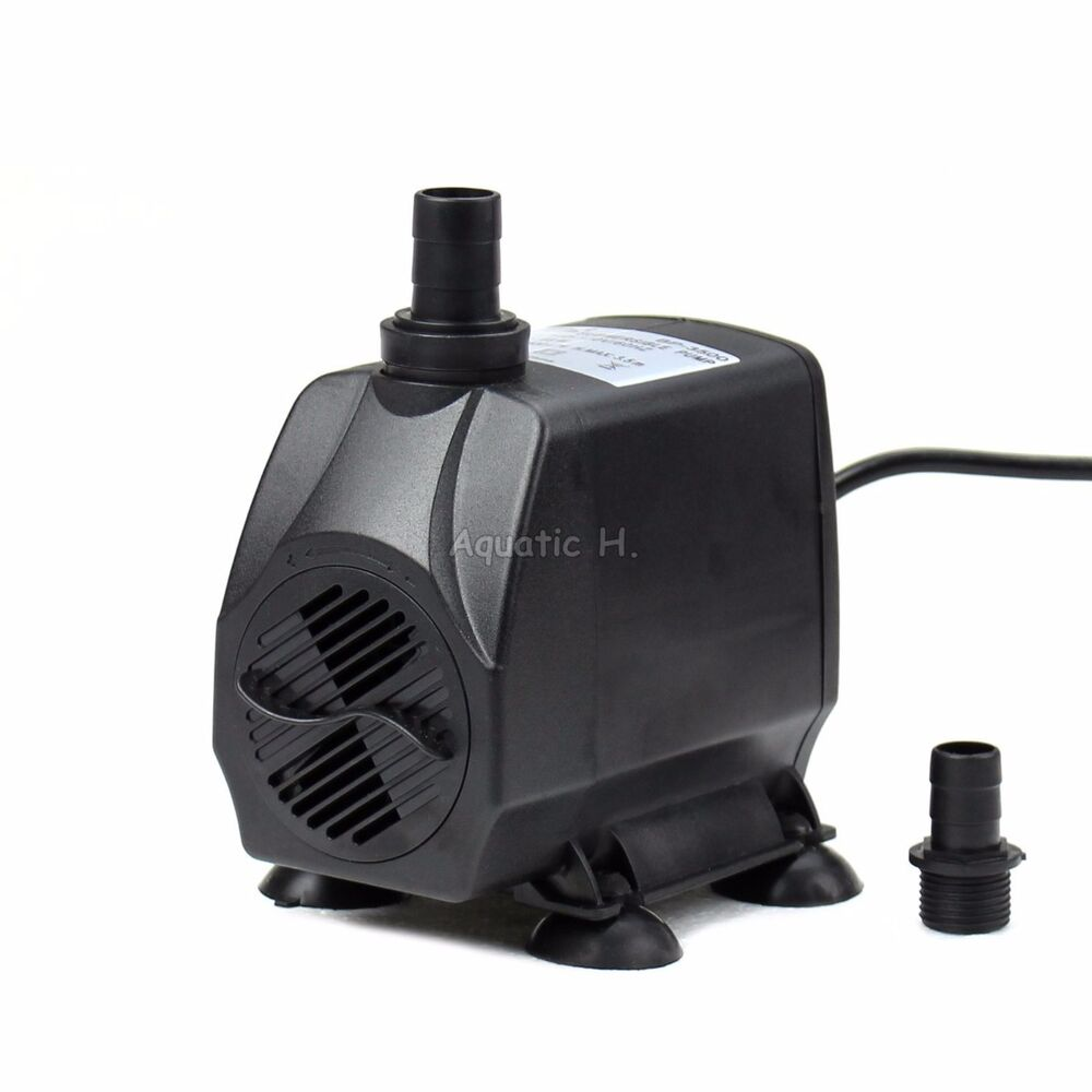 926 gph adjustable aquarium submersible water pump pond for Fish water pump