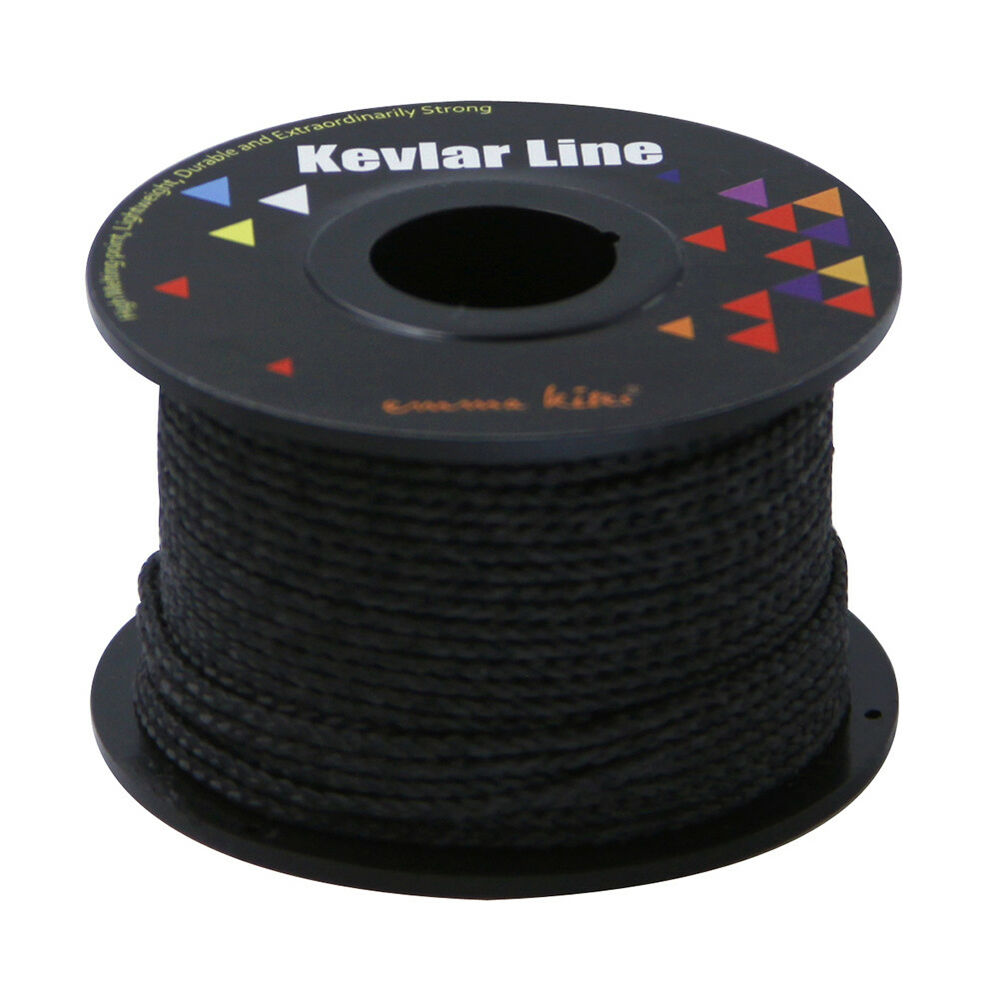 Black 100ft 500lb braided line kevlar compact survival for Black braided fishing line
