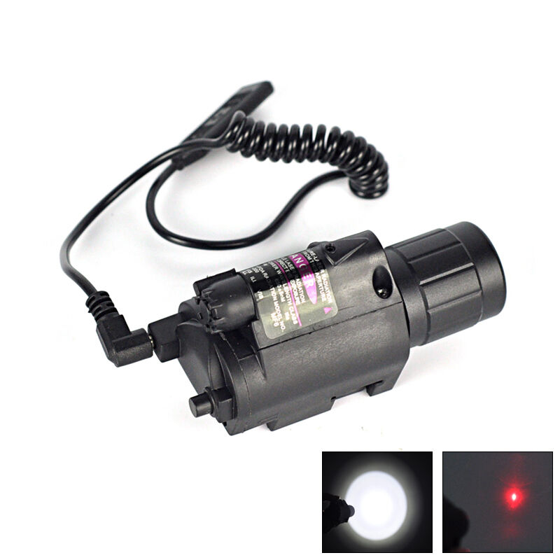 Tactical Led Flashlight With Red Laser