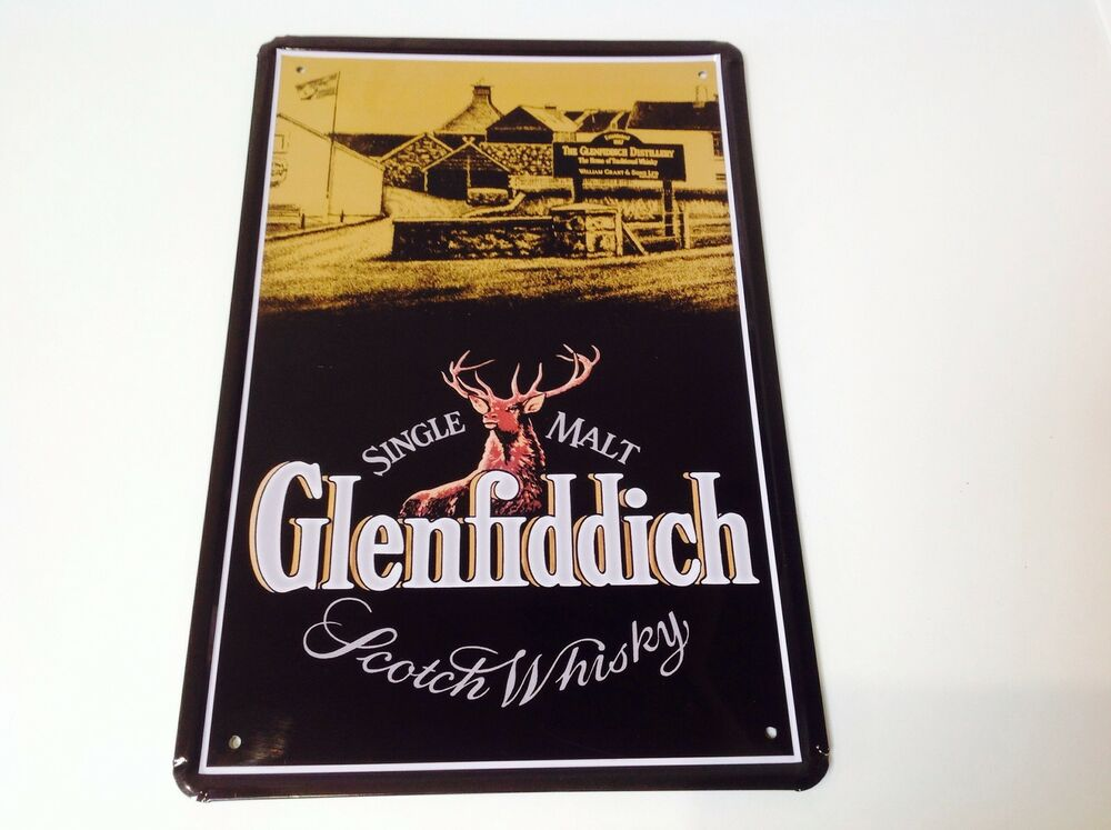 glenfiddich whisky metal poster bar pub tavern wall decor sign tin plaque malt ebay. Black Bedroom Furniture Sets. Home Design Ideas