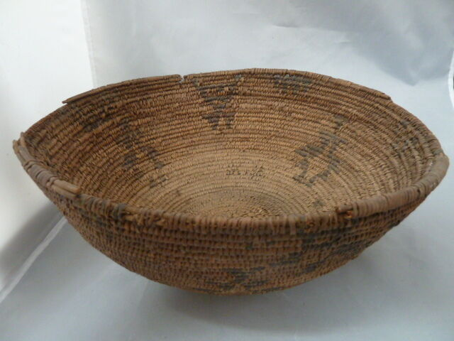 Native american large weave basket bowl nice design approx diam - Diametre panier basket ...