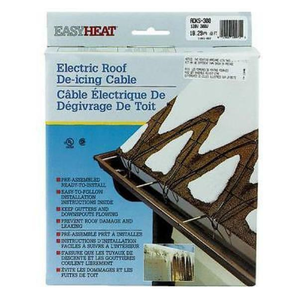 Easy Heat Electric Roof Amp Gutter De Icing Cable Adks 300