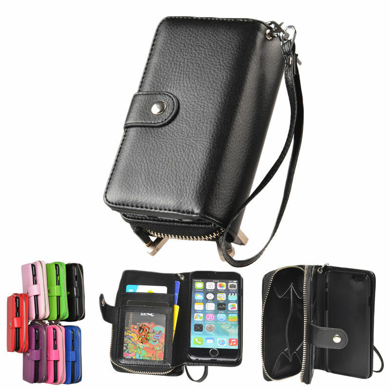 wallet iphone case leather magnetic zip wallet purse card cover for 1572