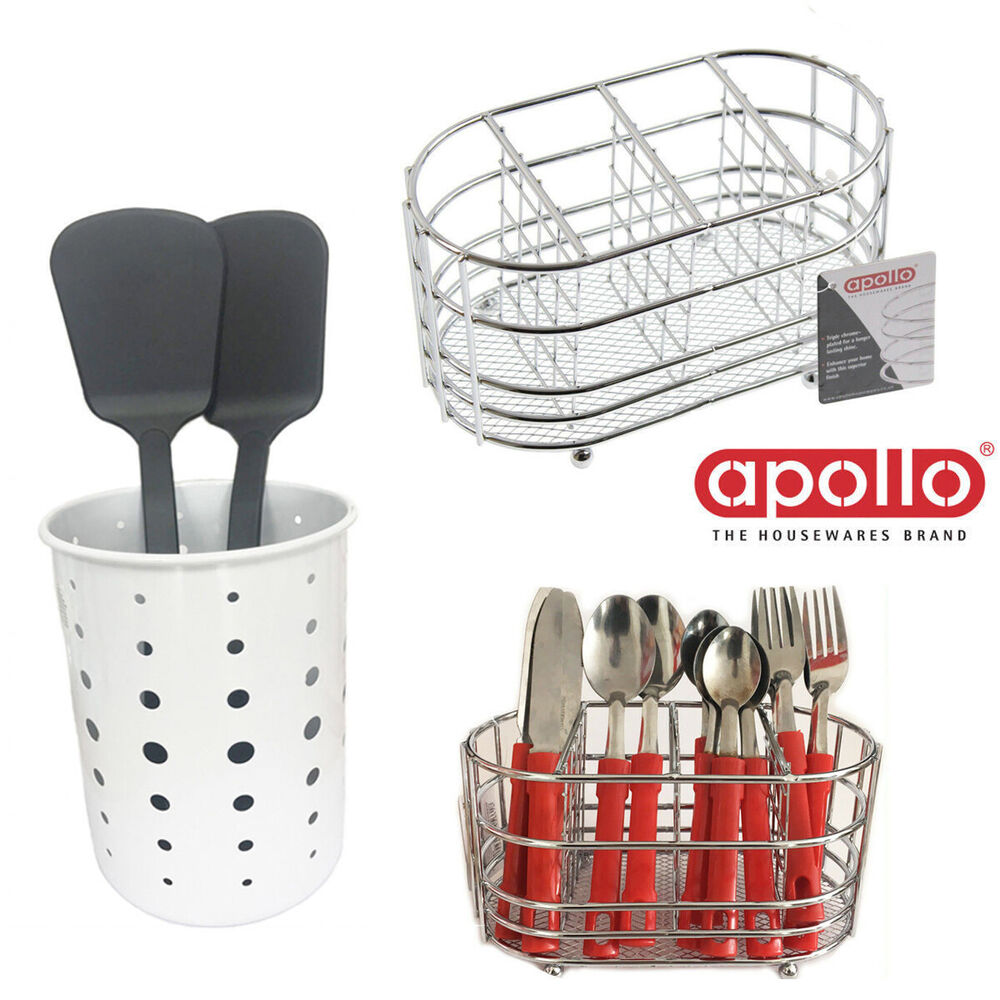 Wide Cutlery Holder Stainless Steel Table Stand Deep Rack ...