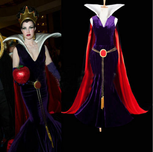 snow white evil queen shining crown dress costume movie