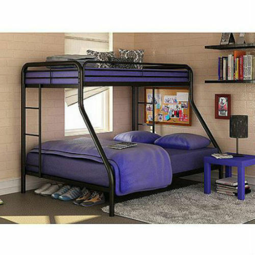 Cheap New Beds: Twin Over Full Bunk Beds Metal Bunkbeds Kids Teens Dorm