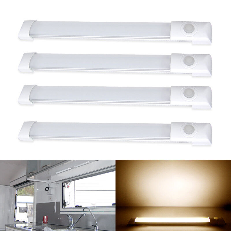 "12v Led Under Cabinet Counter Strip Light Rv Camper: 4*LED 5.9"" 12V Kitchen Under Cabinet Counter Shelf Bar"