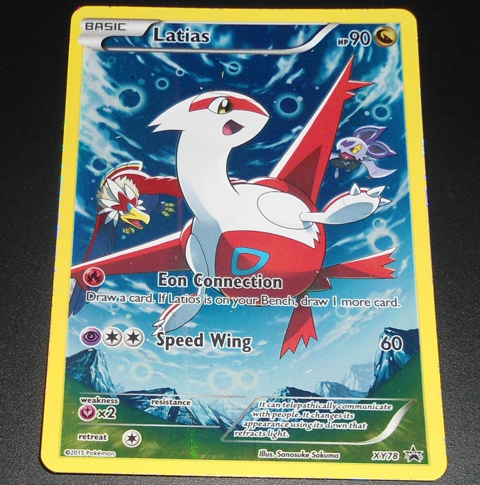 Latias XY78 XY Black Star HOLO Legendary Collection Box PROMO Pokemon ...