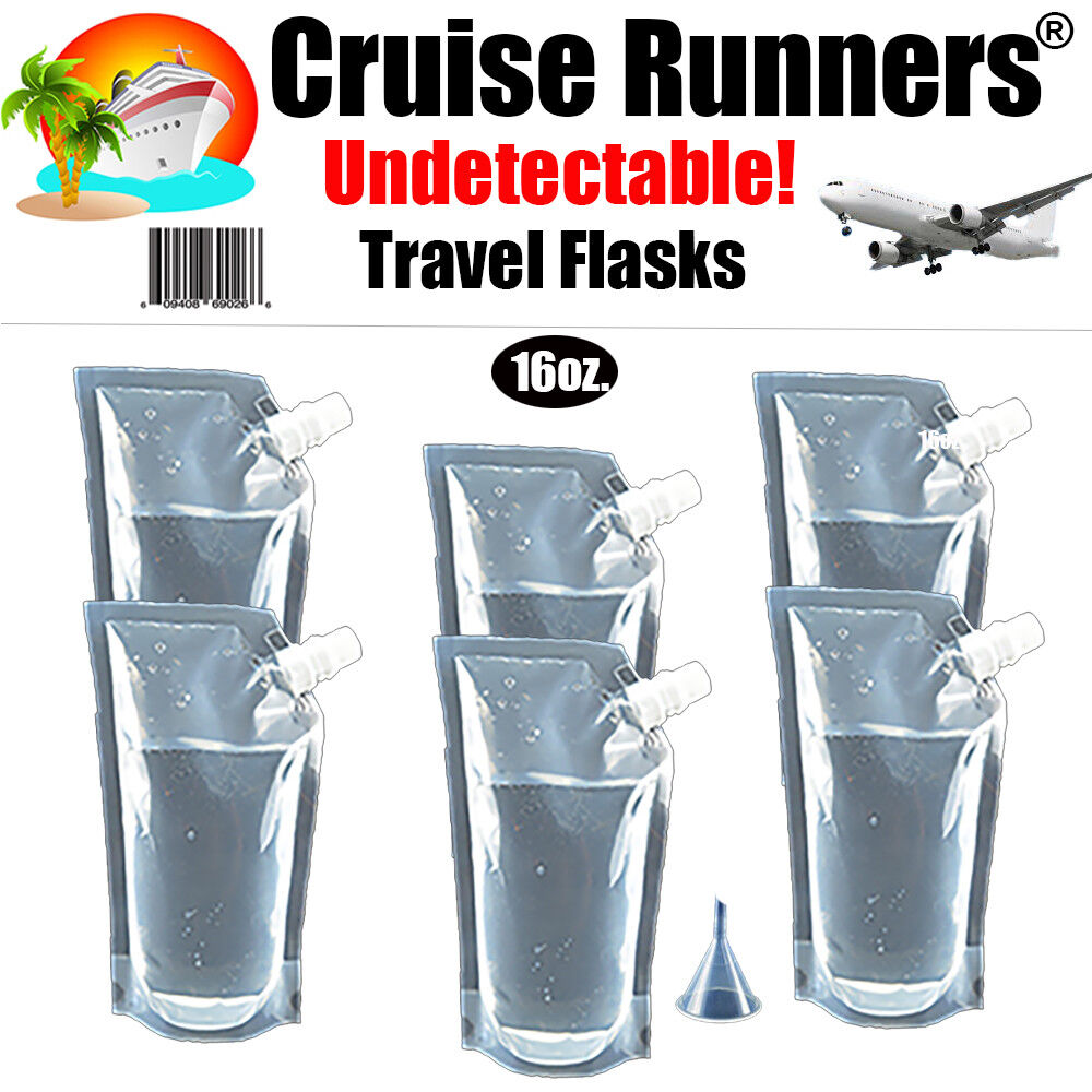 Cruise Flask Kit 5 16oz Runners Rum Smuggle Sneak Alcohol Liquor Wine Booze Ebay