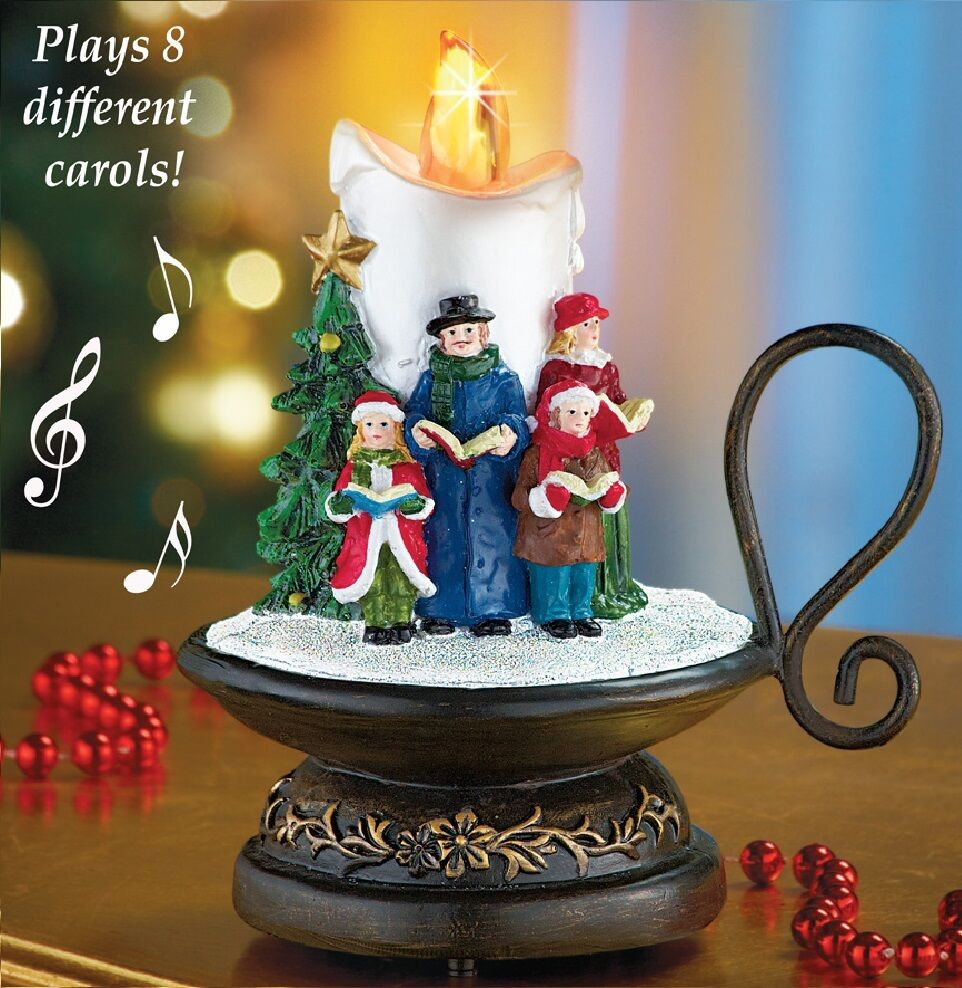 Lighted 8-Song Musical Holiday Christmas Carolers Choir