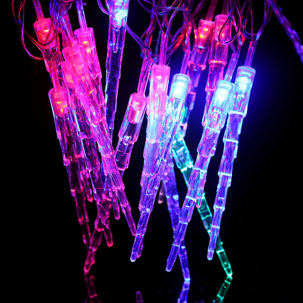 Led Icicle String Lights : 20LED Icicle LED Lights String Solar Christmas Fairy Lights Outdoor Home Decor eBay