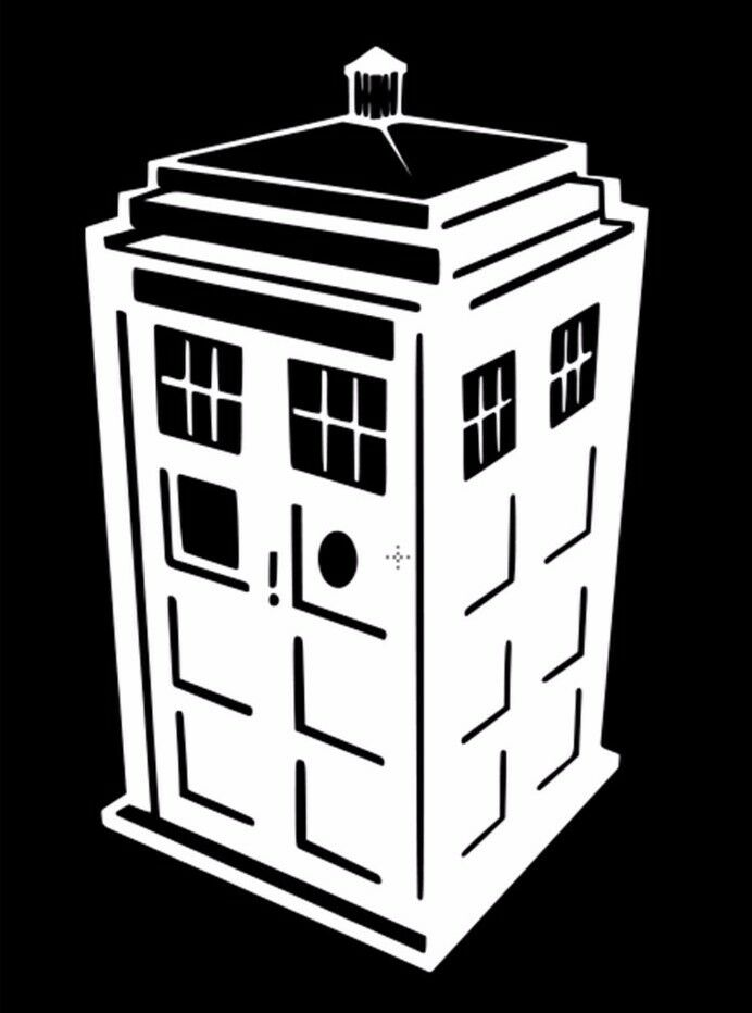 Police Box Tardis Doctor Who Tv Show Car Window Vinyl