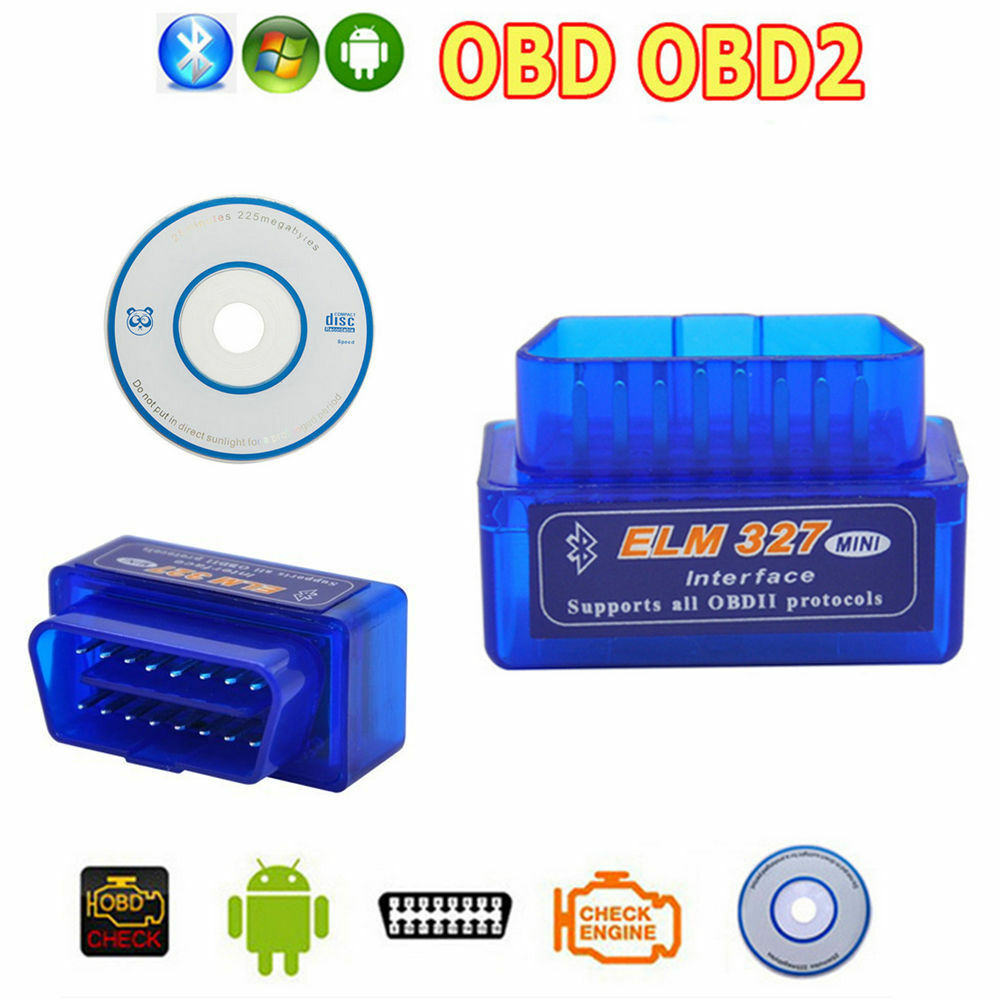 Auto Mini Obd2 Ii Elm327 V2 1 Car Bluetooth Diagnostic