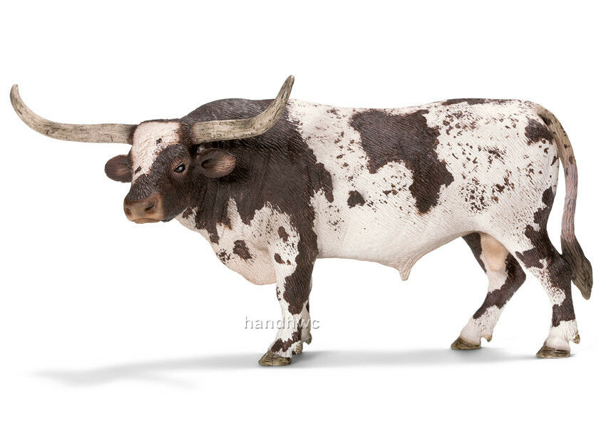 Small Toy Cows : Schleich texas longhorn bull animal toy cow model