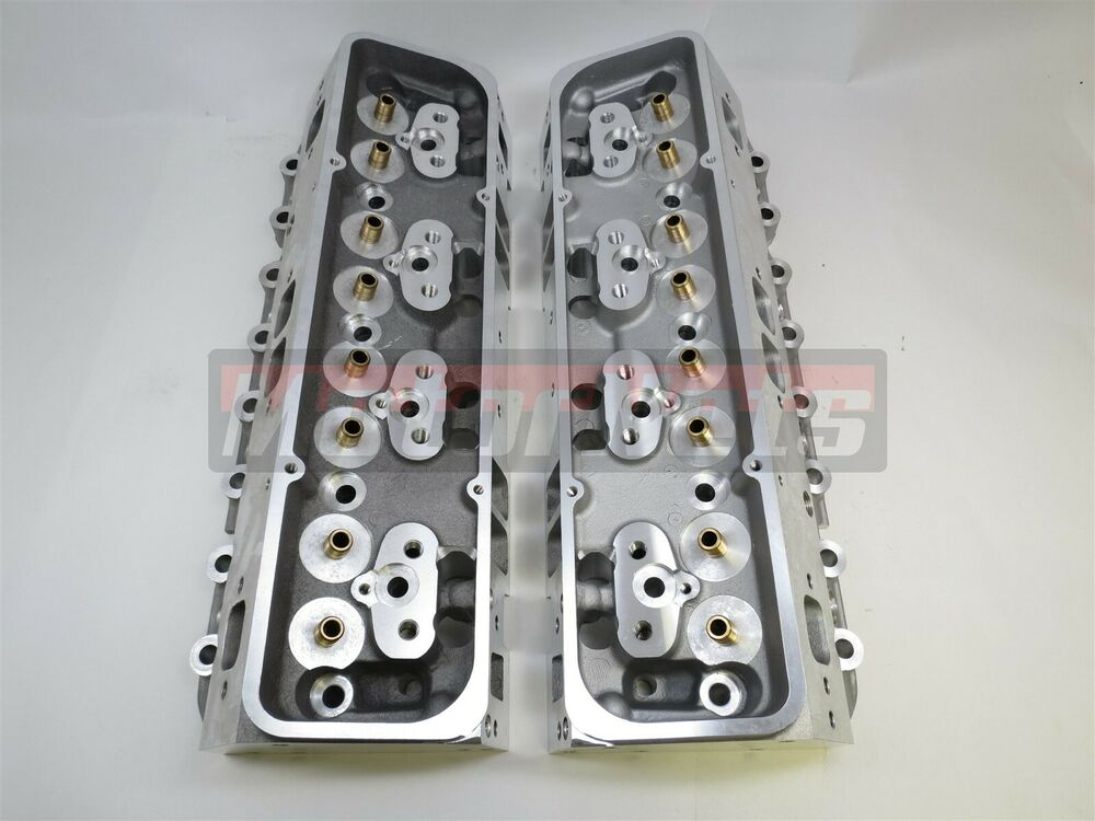 Small Block Chevy Aluminum Bare Cylinder Head Angled SBC