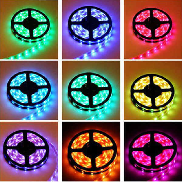 5m led smd streifen strip 5050 rgb mit controller und fernbedienung ebay. Black Bedroom Furniture Sets. Home Design Ideas