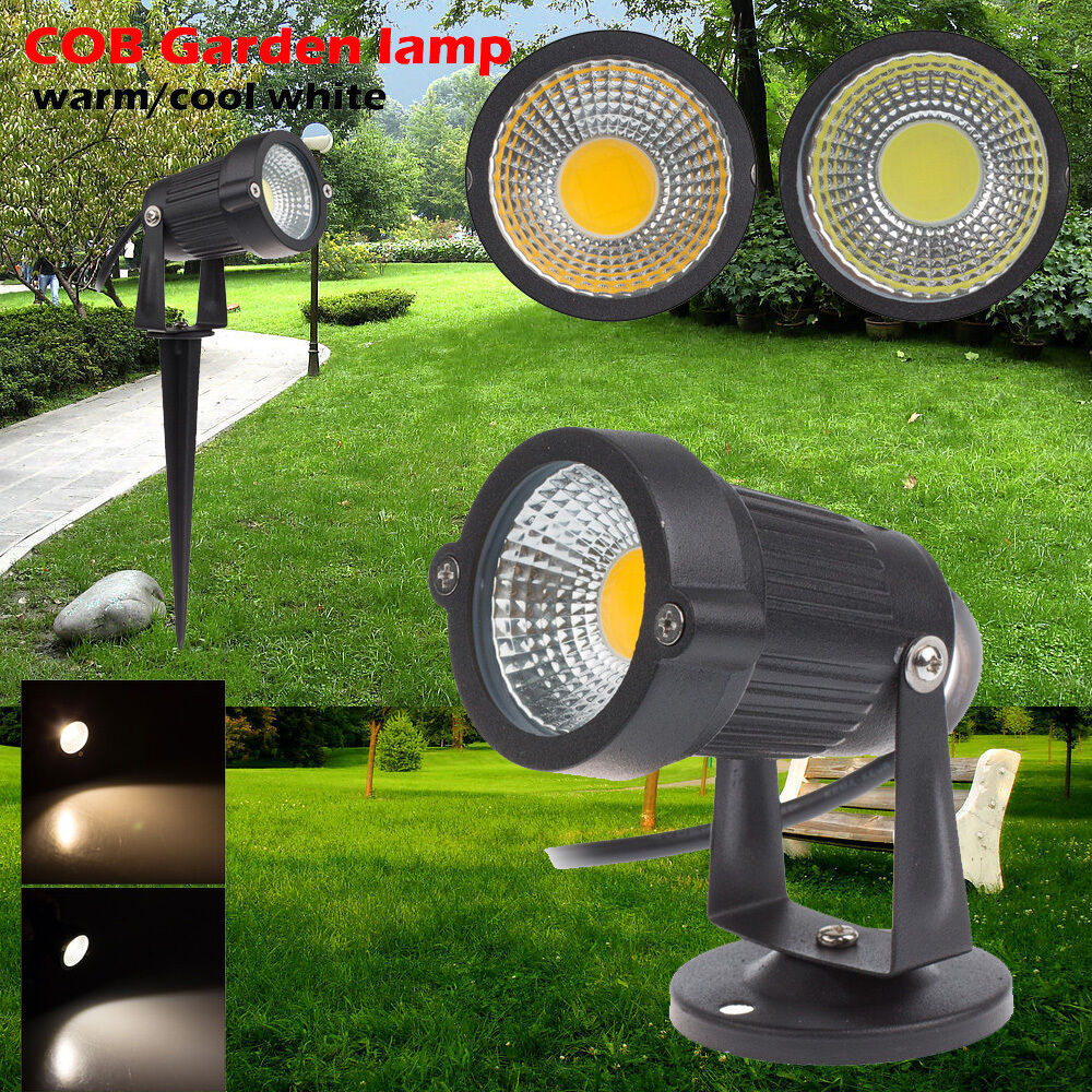 led spot light outdoor garden lawn landscape spotlight path lamp 3w 5w cob lamp ebay. Black Bedroom Furniture Sets. Home Design Ideas