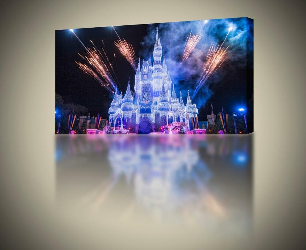 Frozen Disney Castle CANVAS PRINT Wall Art Decor Giclee ...