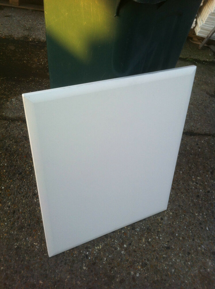 Beveled Edge Matt White Kitchen Cabinet Cupboard Doors To