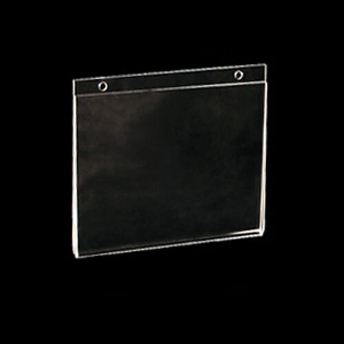 lot of 10 clear acrylic horizontal wall mount sign holder 8 5 w x 5 5 h ebay. Black Bedroom Furniture Sets. Home Design Ideas