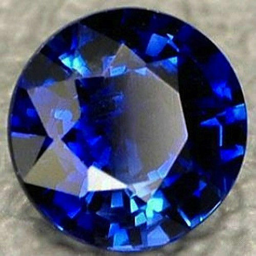 Lab Created Synthetic Blue Sapphire Corundum Round Loose